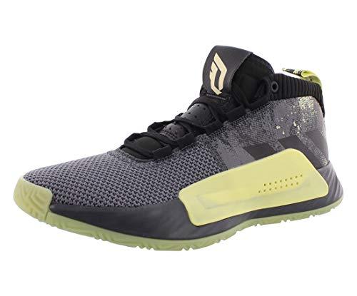adidas Men's Dame 5 Basketball Shoe, Grey/Grey/Black, 7 M US