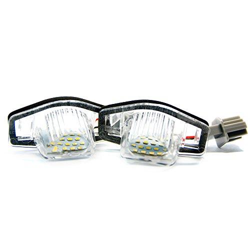 Preisvergleich Produktbild 2 x LED Kennzeichenbeleuchtung Xenon Kennzeichen Leuchte 6000K Licht