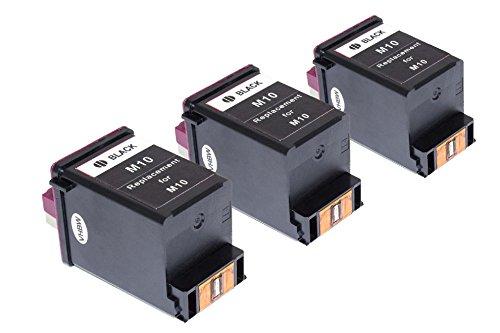 vhbw 3X Cartucho de impresión Cartuchos de Tinta Set para Samsung SF-4000, SF-4020, SF-4100, SF-4108, SF-4120 como Samsung INK-M10, Lexmark 13400HC.