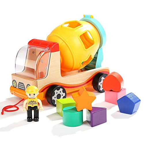 TOP BRIGHT Dump Truck Shape Sorter Toys for Toddlers - Preschool Learning Toys for 2 3 Year Old Boys Girls Gifts