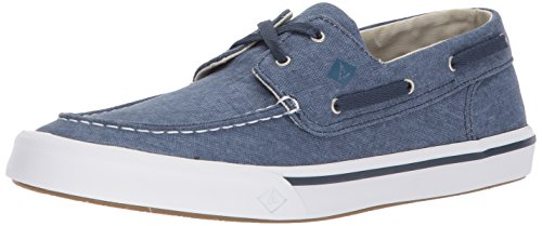 Sperry Mens Bahama II Boat Washed Sneaker, Navy, 11