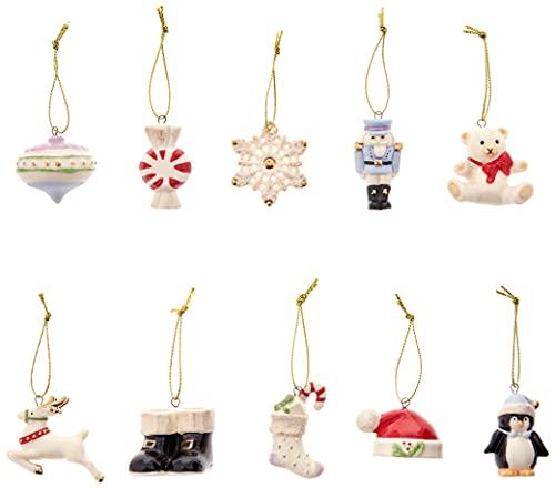 Lenox Christmas Memories 10-Piece Ornament Set, 0.55 LB, Multi