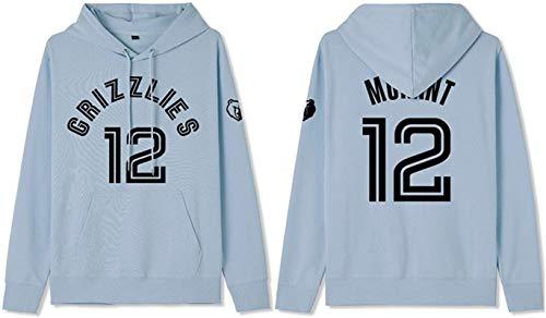 Sudadera de baloncesto con capucha para hombre, Memphis Grizzlies Ja Morant 12# ropa de entrenamiento para aficionados, sudadera de manga larga, unisex, el mejor regalo de cumpleaños S-3XL – Unisex