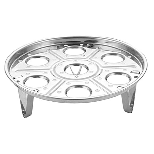 MagiDeal Support En Acier Inoxydable De Vapeur D'oeuf Pour Autocuiseur Instantané De Pot Et Trancheuse d'Oeufs - 8cm