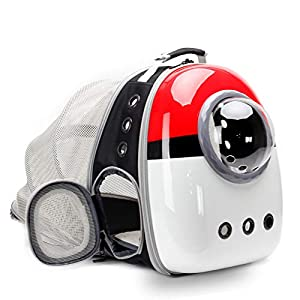 Expandable Cat Carrier Backpack Bubble, Space Capsule Bubble Pet Travel Carrier for Small Dog, Pet Hiking Traveling Backpack (Pokemon, Expandable Backpack – Solid Hard)