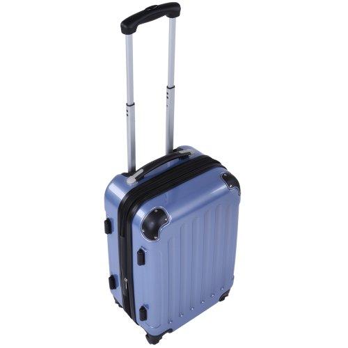 Vojagor Trolley valigia set valigie rigide set baggagli (champagne)