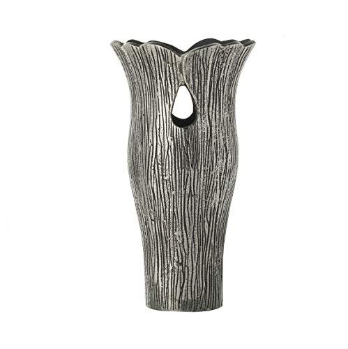 Tutti Decor Celeste Decoratieve Aluminium Vaas, zilver art deco vormige 42cm