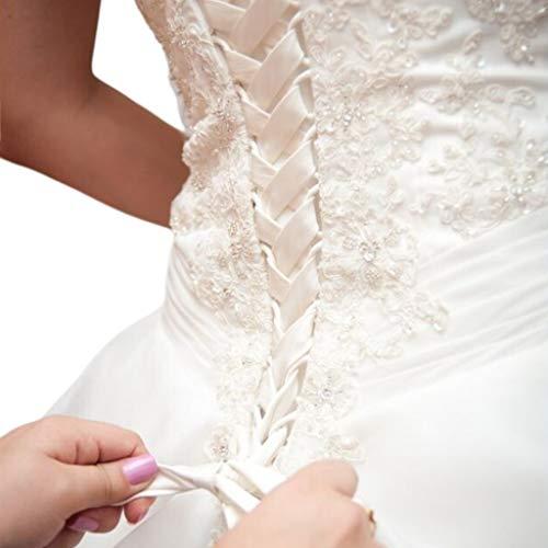 MIKI-Z 118-Zoll-Brautkleid Reißverschluss Ersatz verstellbare Korsett-Rücken Kit Schnür Satin Band Krawatten für Braut Bankett Abendkleid