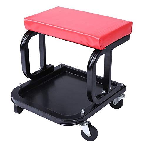 Werkplaatsstoel, kruk met wieltjes, voor werk, monteurs, voor auto, barbecue, reizen, vissen