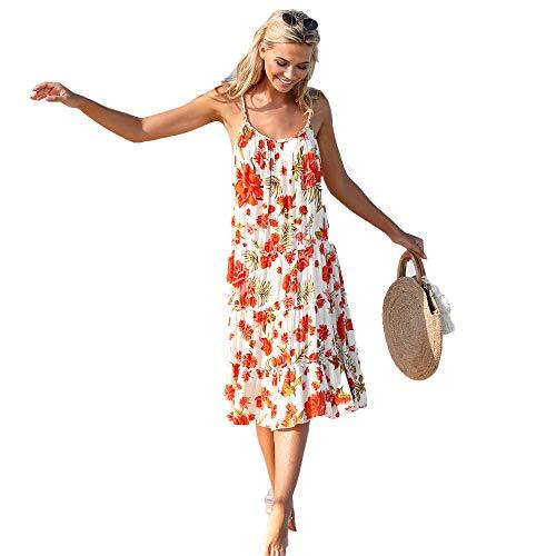 Preisvergleich Produktbild Kurzes Kleid mit geflochtenen Trägern - 024498, ALTWEISS, XS