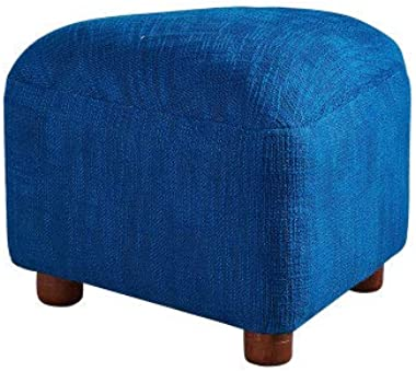 Foot Rest Stool Ottoman,Polyester Fabric Covered Sofa Stool, Solid Wood Footstool Seat for Dining Room Livingroom Bedroom Rea