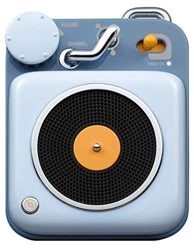 Muzen Audio Berry Blue Button Portable Wireless High Definition Audio Bluetooth Speaker  Classic Vintage Retro Design