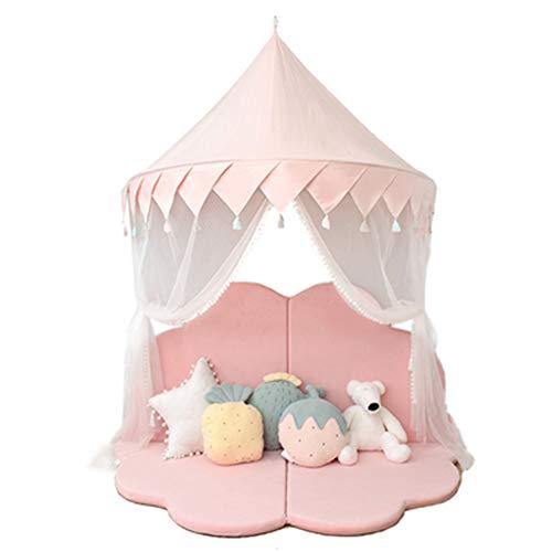 YYFZ Bed luifel voor kinderen ronde koepel Kids Grote capaciteit is geschikt voor 95 * 135 * 140cm schakelbare kleine gordijnen