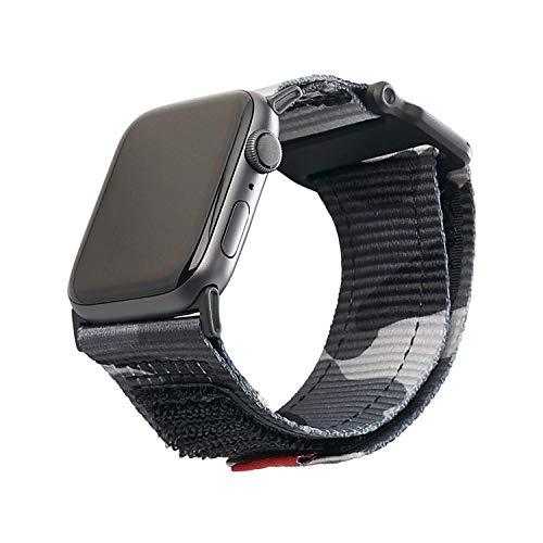 Urban Armor Gear Active Correa para Apple Watch (42mm) y Apple Watch (44mm) (Series 5, Series 4, Series 3, Series 2, Series 1, Correa reemplazable) - Negro (Camo)