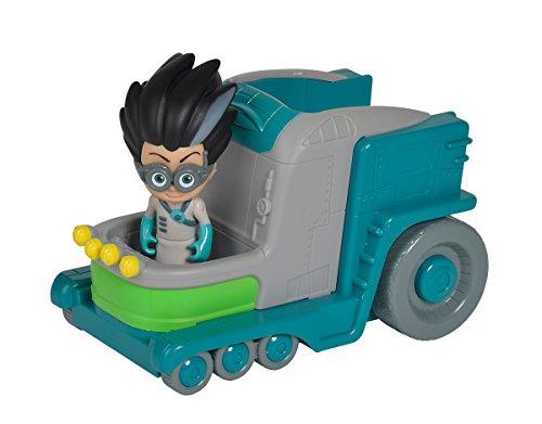Simba  109402227 - PJ Masks Romeo mit Labor / mit Bösewicht Romeo / mit Action Figur / Fahrzeug 15cm groß / Figur 8cm groß, für Kinder ab 3 Jahren