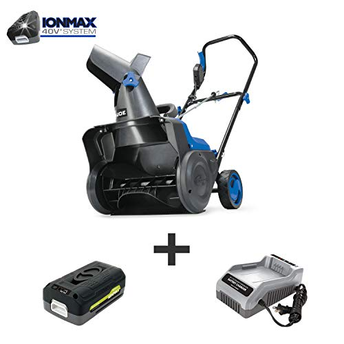 Snow Joe iON15SB-LT 40-Volt iONMAX Cordless Single Stage Snow Blower Kit | 15-Inch | W/ 2.5-Ah Battery and Charger