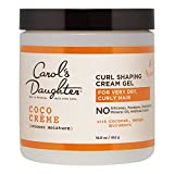 Carol's Daughter Coco Creme Curl Shaping Cream Gel, with Coconut Oil, Coconut Milk, Silicone Free, Paraben Free Hair Gel for Curly Hair , Mineral Oil Free, for Very Dry Hair, 16 Oz