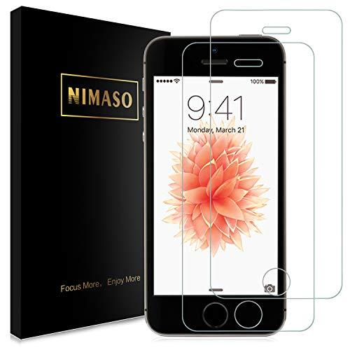 【2枚セット】Nimaso iPhoneSE / iPhone5s / iPhone5 / iPhone5c用 強化ガラス液晶保護フィルム 【日本製素材旭硝子製】全面保護/業界最高硬度9H/高透過率( iPhone SE / 5s / 5 / 5c , 2枚セット )