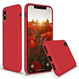 Efinito Slim Fit Liquid Silicone Back Cover for Apple iPhone X iPhone Xs