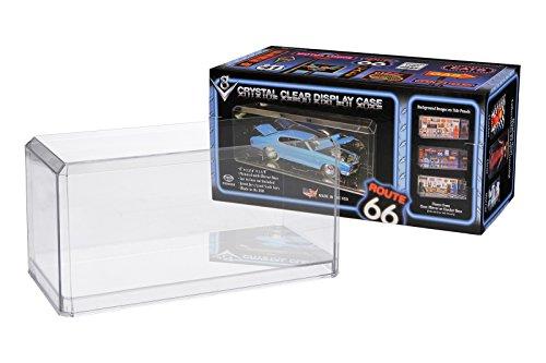 Pioneer Plastics - hochwertige Modellautovitrine aus Acryl, Maßstab 1:32, mit 3M Klebepad, mit abgeschrägten Kanten