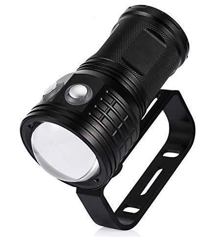 Linterna de Buceo, Super Brillante 10000 lumenes XM-L2 Linterna Sumergible LED, luz de Buceo Impermeable IPX8 7 Modos Buceo 80 Metros, Linterna Tactica para Video Submarino Luz de Relleno