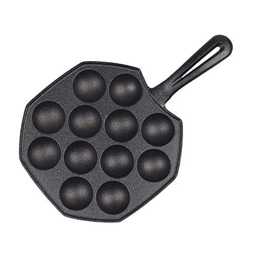 KOUPA 12 cavità in Ferro Antiaderente Takoyaki Pan Palla di Polpo Fai-da-Te, Impugnatura Comfort, Pancake Maker Stampo da Forno Takoyaki Pentole per pentole, per Accessori da Cucina
