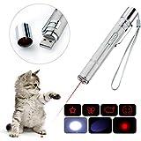 BiuCat 7 in 1 USB LED Pointer Interaktives Spielzeug für Katzen Hund Haustier (Direkt-Aufladung)