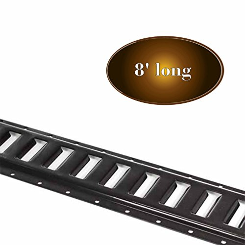 Three 8-ft E Track Tie-Down Rails, Powder-Coated Steel ETrack TieDowns | Horizontal 8 E-Tracks, Pack of 3 Bolt-On Tie Down Rails for Cargo on Pickups, Trucks, Trailers, Vans