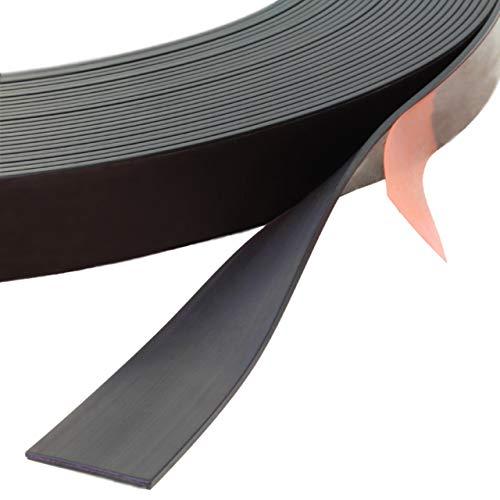 Klebeshop24 MAGNETBAND SELBSTKLEBEND | Abmessungen wählbar / 12,7 x 1,5 mm, 3 m auf Rolle