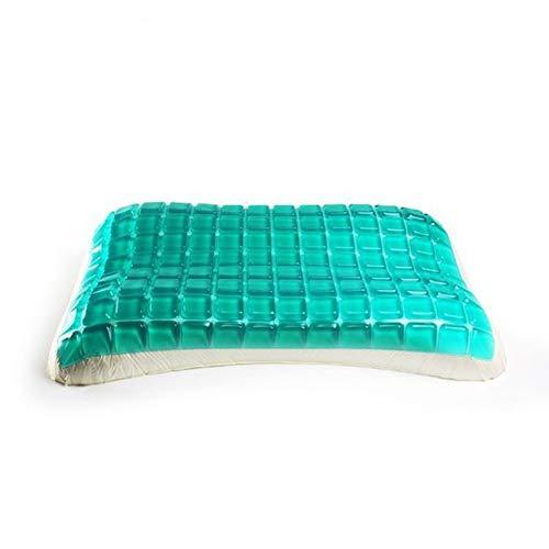 WM Gel traagschuim Pillow - omkeerbare cool gel kussens - zachte en comfortabele orthopedische ondersteuning - luxueuze hypoallergene nekpijn zijslaap