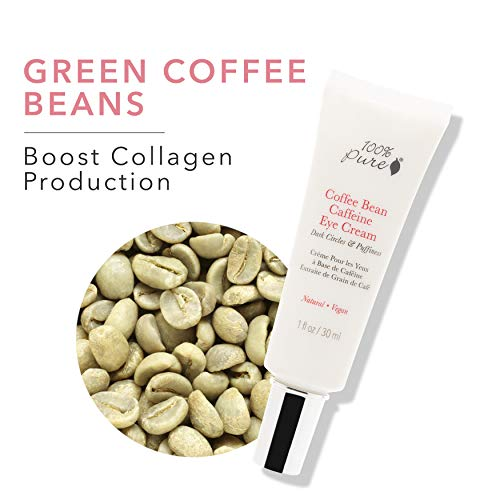 41tSQfOkuVL - 100% PURE Coffee Bean Caffeine Eye Cream for Wrinkles, Anti-Aging, Dark Circles Under Eye Treatment for Eyelids and Under Eye Area - 1 Fl Oz