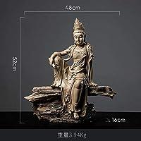 頭彫刻バストス裸足仏陀台彫刻彫刻タイヨガマンダラ彫刻樹脂クラフトアミタバデコレーション像