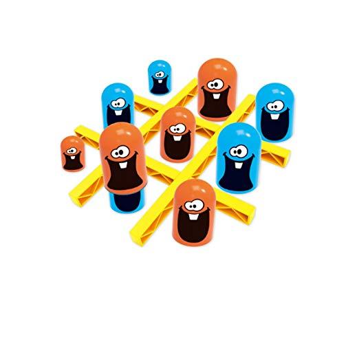 xiaomomo521 Lernspielzeug FüR Kinder, GroßE Kleine Tischspiele, Tic-Tac-Toe, Strategie-Brettspiele FüR Stapelbecher A