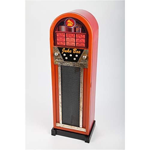 point home Design-Schrank Jukebox, Retro, orange/schwarz, 78cm