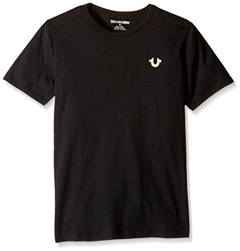 True Religion Boys' Big Logo Tee Shirt, Black-79, M