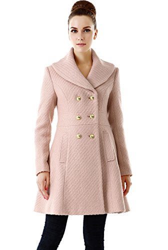 cute blush pink coat for women