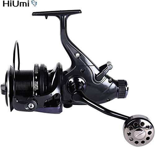 Hiumi Carp Fishing Reels 8000 9000 10000 Bait Runner Big Free Runner Double Brake Feeder 12+1 Ball Bearing Spinning Fishing Reel (THOR10000)