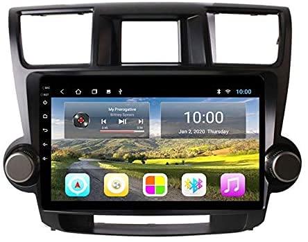 AEBDF Android Coche estéreo para Toyota Highlander 2009-2014, Sat Nav Multimedia Player Pantalla táctil GPS Navegación Radio Soporte de Radio Mirror Incorporado Carplay,S1 4Core WiFi 1+16GB