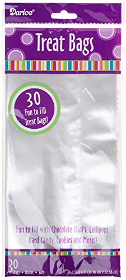 Darice 30-Piece Treat Bags, 4 by 9-Inch, Clear