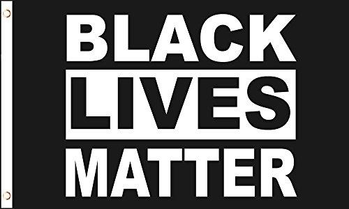AZ FLAG Flagge BLM Black Lives Matter 150x90cm - Schwarze Leben ZÄHLEN Fahne 90 x 150 cm - flaggen Top Qualität