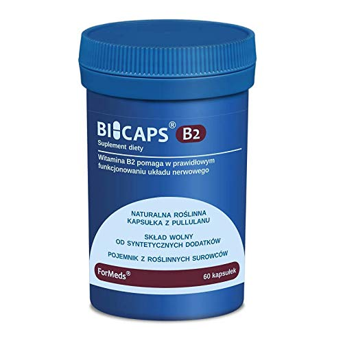 Bicaps Vitamin B2 Riboflavin 40 mg 60 Servings 60 Capsules ForMeds