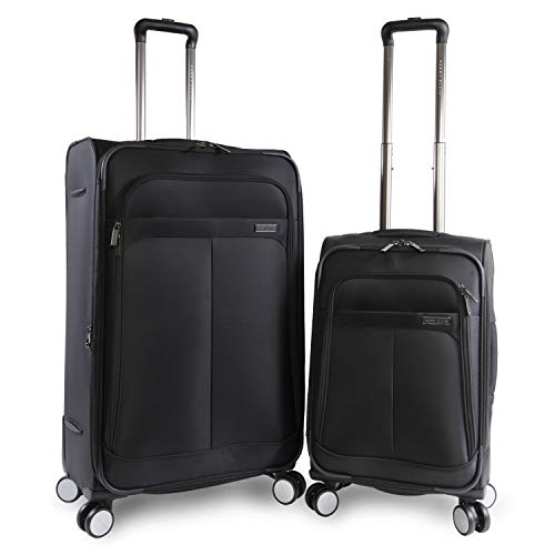 Perry Ellis 2 Piece Prodigy Lightweight Luggage Set, Black, One Size