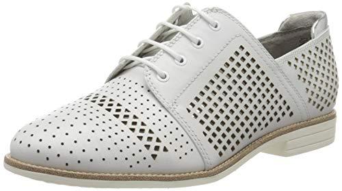 Tamaris 1-1-23212-24, Zapatos de Cordones Derby para Mujer, Color Blanco 100, 42 EU