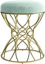 Dressing Table Vanity Stool Upholstered Modern Round Bedroom Living Room Furniture, 38cm*45cm Suitable for Bedroom Living ...