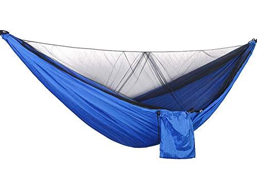 SSB Swing Hamac De Jardin Anti-Moustique en Plein Air Double Double Parachute Tissu Charge 300Kg Dortoir Intérieur Camping Net Randonnée Sac À Dos Voyage 290x140cm (Color : E)