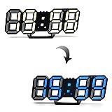 puseky - Sveglia digitale a LED bicolore, da tavolo, con display a temperatura fissata, con allarme forte