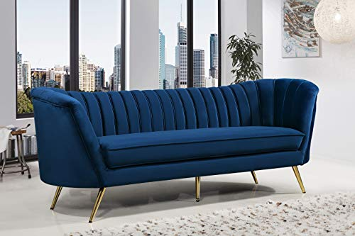 """Meridian Furniture 622Navy-S Margo Collection Modern 