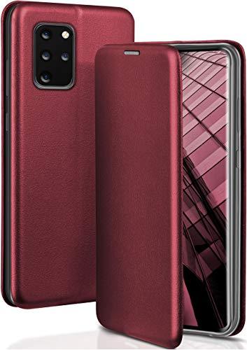 OneFlow Funda Libro + Cierre magnético Compatible con Samsung Galaxy S20+ / S20+ 5G   Piel sintética, Rouge Vin