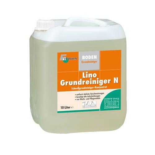Lino-Grundreiniger N, 10 Liter - für Linoleum Beläge - Schnellgrundreiniger Konzentrat