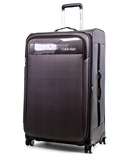 Calvin Klein Glen Expandable Softside Spinner Luggage, Greystone, 28 Inch
